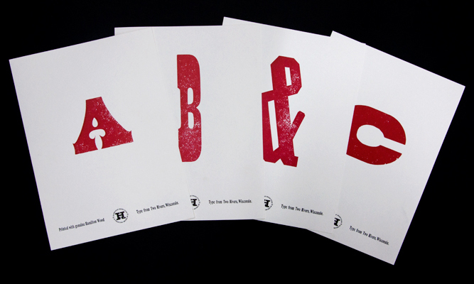Hamilton Type Museum, Letterform Prints