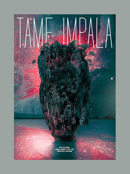 Tame Impala poster by Paloma Chavez
