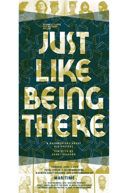 Gig Posters: Just Like Being There event poster | Paloma Chavez